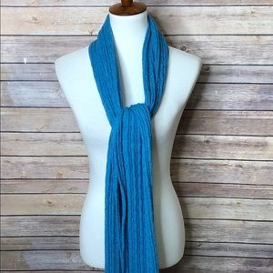 AEO Thick Knit Scarf Blue